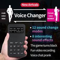 لايف البث البث عبر الإنترنت مبدل الذكور إلى أنثى محول مصغرة 8 تغيير أوضاع ميكروفون disguiser الهاتف لعبة تحويل الصوت