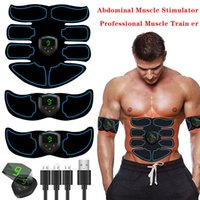 Accessories USB Smart Digital Display 8 Pieces Of Abdominal Muscle Stickers Fitness Equipment Lazy