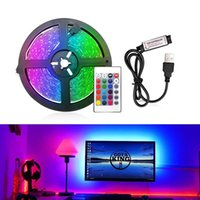 Strips USB LED Strip Light RGB 2835 50CM 5M DC 5V Powered Backlight Flexible Ribbon Decor Screen TV Background Lighting