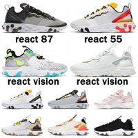 epic react vision element react 55 87 undercover جديد جودة Element 55 87 Undercover Anthracite الرجال النساء احذية الجري أسود قزحي الألوان أحذية رياضية المدربين أحذية رياضية