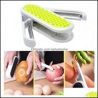 Kitchen, Dining Bar Home & Garden2 In 1 Folding Peeler Mti-Function Fruit Vegetable Grater Stainless Steel Potato Carrot Slicer Creative Kit