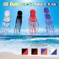 3D Octopus nylon enorme deporte al aire libre 8m software volando cola larga kites juguetes niños niños regalo