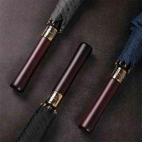 Parachase 132 см Большой Зонт Мужчины Бизнес Сильная Длинная Ручка Дождь Женщины Ветрозащитный Палочка Гольф Большой S Деревянный 8k 210911