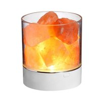 Ночные огни Гималаян Соленая лампа Рок Натуральный Кристалл Маленький Ионный каменный прикроватный свет
