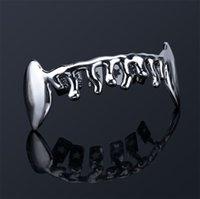 Hip Hop Bottom Dental Grills Fashion 1 Piece Gold Silver Color Hip Hop Vampire Teeth Brace Gold Grillz For Men Women 535 Q2