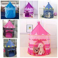 Niños Toy Tents Partido Favor Favor Folding Princess Prince Castle Play House Tienda Zza3326