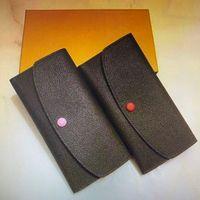 M60697 Classic Emilie Fold Wallet Mujeres Largas Billeteras Moda Exótica Cuero con cremallera Monedero Monedero Titular de la tarjeta Bolsas de embrague con caja 60697