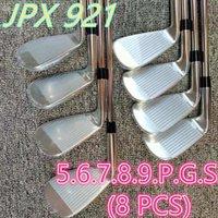 Ferri da golf da uomo JPX921 Set di ferro Club in ferro 5-9PGS (8pcs) Albero in acciaio flessibile R / S Flex con testa di testa