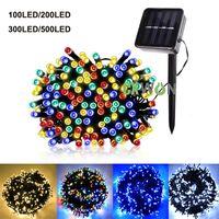 Solar String Light 12 22 32 52m Waterproof Outdoor LED Fairy Garland Lamp 100 200 300 500LEDS Decoration lights for Christmas Garden