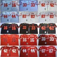 Vintage San Franclsco 16 Joe Montana 49els Red 33 Roger Craig 44 Tom Rathman 87 Dwight Clark 42 Ronnie Lott Jerseys Jerseys 75th Patch