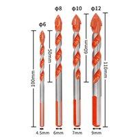 متعددة الوظائف المثقبة النهائية بت السيراميك الزجاج اللكم ثقب العمل 6-12 ملليمتر الكهربائية مفك البراغي الرياح بت