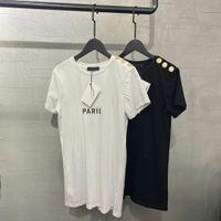 Letra de bronzeamento Imprimir Mulheres Camisas Top Manga Curta Mulheres Tshirt Sobre T-shirt T-shirt Menina Feminina Verão Vestuário Mens Printing Black Paris Fashion Designer