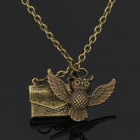 New movie accessories surrounding Harry Potter series admission letter envelope Owl Necklace
