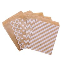 Gift Wrap 25pcs 18*13CM Wave Dot Kraft Paper Candy Biscuit Bags Packing Pouch Popcorn Bag Birthday Wrapping Supplies Pastry Tool