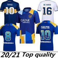 Fãs Versão 21 22 2 22 Boca Juniors Juniors Jersey Carlitos Maradona Tevez de Rossi 2021third Home 3rd 4th Tailândia camisa de futebol homens e crianças conjuntos uniforme