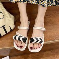 LucyEver Sommer Neue Open TOE Beach Schuhe Rutschen Frauen Mode Mix Farbe Rutschfeste Hausschuhe Frau Outdoor Komfortable weiche Sandalen