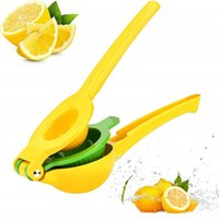 Многофункциональный лимонный соковыжималка 2 в 1 лучший ручной удерживаемый алюминиевый сплав лимон оранжевый цитрусовый сжатый пресс фрукты кухонные инструменты 210406
