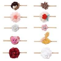 Girls Hair Accessories Flower Baby Headbands Kids Headdress Autumn Winter Soft Princess Hairbands Newborn Head Bands B8216