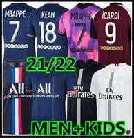 Mailleot باريس جيرسي 2020 2021 2022 Soccer Jersey Mbappe Icardi Verratti Pre-Match Training Tracksuit 18 19 20 21 22 الرجال + قميص أطفال للأطفال