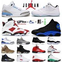Hava Ürdün 11 Jumpman Basketbol Ayakkabıları Serin Gri 3 S 5 S Olive 6 S Legend Düşük 11s Koyu Concord 12 S Kırmızı Flint 13 S Spor Erkek Kadın Sneakers