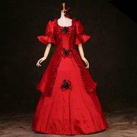 Marie Antoinette viktorianische Eraperiode Geburtstags-Partykleider Renaissance Mittelalterliches Kostüm Southern Belle Gothic Kleid Halloween 2021