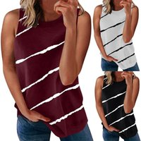 Women's T-Shirt Crew Sleeveless Pullover Multicolor Blouse Ladies Tank Tops