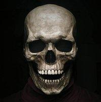 Halloween pełna głowa czaszka maska kask z ruchomym szczęką cały realistyczny wygląd Dorosłych lateksów 3d szkielet straszne czaszki maski HH21-513