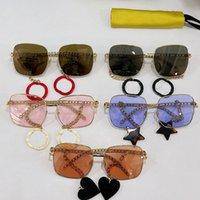 Quadro Viagens Sunglasses GG0724 Pingente Mens Designer Completo Sunglassess Womens Tendência Requintado Moda Sunshade Óculos Marca Caixa Origina JXFD