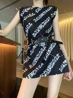 Mode Marke Kleider Frauen Brief Druck Kleider Hemd Damen Baumwolle Hochwertige Designer Kleidung Freie Gürtel Taille Tasche