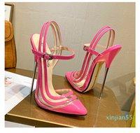 women Sandals sandal silver Narrow Band slide designer slides super high 15.5cm pink heels heel 2021 wedding stiletto boot shoes