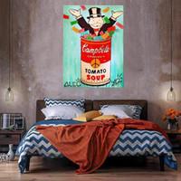 Çorba Büyük Yağlıboya Tuval Üzerine Ev Dekor El Sanatları / HD Baskı Duvar Sanatı Resimleri Özelleştirme Kabul Edilebilir 21050413