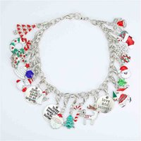 Chirstmas الأطفال مطرز سوار هدية مربع مجموعة diy أزياء الفتيات مجوهرات الاطفال الملونة سانتا عيد الميلاد شجرة اليد الديكور هدية دعوى H8114BU