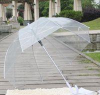 맑은 귀여운 거품 깊은 돔 우산 험담 소녀 바람 저항 투명 버섯 우산 웨딩 장식 크기 : 86 * 86