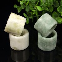 Cluster Rings Natural Green Jade Ring Jadeite Buddhism Amulet Fashion Chinese Charm Jewelry Hand Carved Crafts Luck Gifts Women Men A85