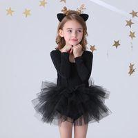 Casual Dresses Fashion Girl Ballet Tutu Dress Professional Kids Dancing Party Performance Costume Princess Wedding Free