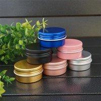Storage Bottles & Jars 5 10 15g Round Cosmetic Small Aluminum Box Metal Tin DIY Pink MIni Cream Gold black Empty Refillable Jar Tea Pot