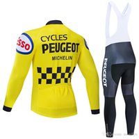 3 Winter 2020 Peuget TEAM CYCLING Jersey 20D bike pants set Ropa Ciclismo MENS thermal fleece pro BICYCLING jersey Maillot wear