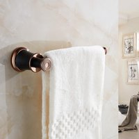 VidricTowel Ring Luxury ORB Wall Mounted Black Towel Holder For Bathroom Accessories Solid Brass Bath Bar Rack 5507 Rings