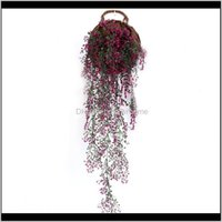 Decorative Flowers Wreaths Festive Party Supplies Home & Gardenhome Artificial Plant Vine Garland Fake Foliage Flower Creeper Wall Hanging P