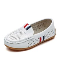 JGSHOWKITO Boys Shoes Fashion Soft Flat Loafers For Toddler Boy Big Kids Sneakers Children Flats Breathable Moccasin Cut-outs H0901