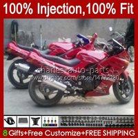 Kawasaki Ninja Zzr-400 ZZR-600 zzr400 93 94 95 96 97 98 99 00 84hc.43 zzr600 zzr 600 400 2001 2002 2003 2004 2005 2006 2007 OEM 바디 키트 진한 빨간색 새로운