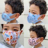 A prueba de polvo para niños, protector solar a prueba de viento, todo el algodón, la máscara de patrón de algodón se puede lavar y usar repetidamente