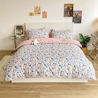 Bedding Sets Aloe Cotton American Quilted Floral Jacquard Duvet Cover 3 4 Piece Set Of Fitted Sheet Queen King Size Quilt