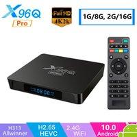 Boîte TV intelligente Android 10 TV Boîte Allwinner H313 X96Q PRO 2.4G WIFI 4K Lecteur multimédia YouTube HD Set-haut de page PK X96Q X96 Mini