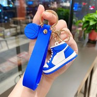 SH001 Yaratıcı Favor Silikon Spor Ayakkabı Modeli Anahtarlık 3D Karikatür Ayakkabı Kişilik Çanta Kolye Süsleme Araba Anahtar Yüzükler