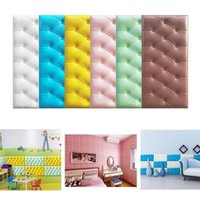 60*30cm Home Anti-collision Wall Mat Floor Pad Entrance Bedroom Living Room Children's Bedside Bed Soft Cushion Stickers