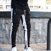 Erkek Joggers Rahat Pantolon Fitness Erkekler Spor Eşofman Dipleri Sıska Sweatpants Pantolon Siyah Spor Salonları Jogger Track Pantolon