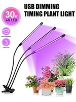 Grow Lights 1 Set LED Full Spectrum Plant Light With Clip For Indoor 10 Level Brightness Timing Function