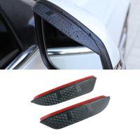 For BMW X4 2013-2021 F26 G02 Auto Car Stickers Side Rearview Mirror Rain Eyebrow Visor ABS Carbon Fiber Sun Shade Rain Guard Accessories