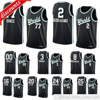 Männer World Team RJ Barrett Rui Hachimura Luka Doncic Shai Gilgeous-Alexander 2020 Rising Star Basketball Jersey